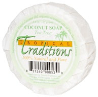 Photo of Organic Virgin Coconut Oil Bar Soap - Tea Tree