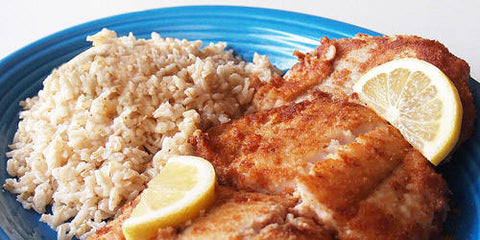 Use Coconut Oil to make gluten free fried fish recipe photo