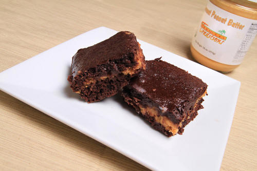 Use coconut oil to make coconut peanut butter whole wheat brownies recipe photo