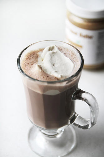 Use coconut oil to make coconut peanut butter cup hot cocoa recipe photo