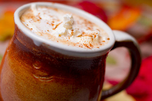 Use coconut ol to make spiced coconut mocha recipe image