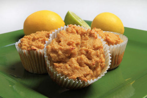 Use coconut oil to make gluten free lemon-lime coconut flour muffins recipe photo