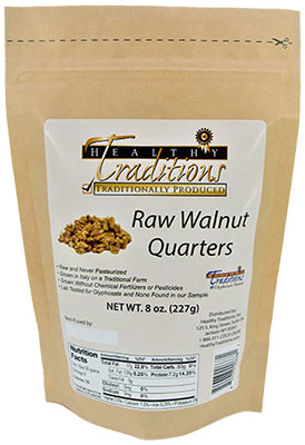 Raw Walnut Quarters