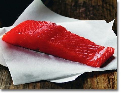 Wild Caught Copper River Alaskan Sockeye Salmon fillet image
