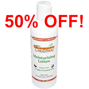 Moisturizing Lotion - 8 oz - Bergamot and Orange