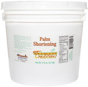 1 Gallon Glyphosate-Tested Palm Shortening - 112 oz. - HBC