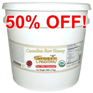 Raw Wild Canadian Honey - 15 lb Pail