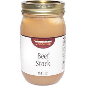 Grass-fed Beef Bone Stock 16 oz (2-jar minimum)