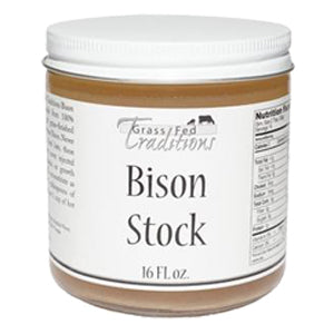 Grass-fed Bison Bone Stock 16 oz (2-jar minimum)