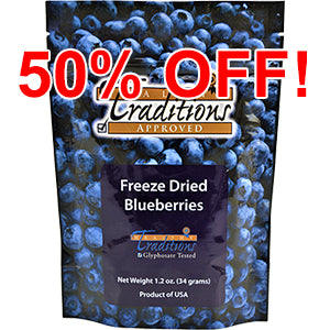 Freeze Dried Blueberries - 1.2 oz (minimum 3 bags)