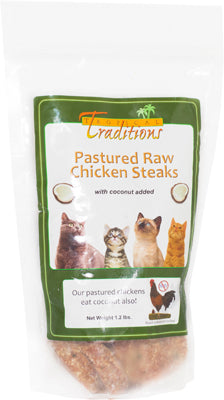 Pastured Raw Chicken Steaks for Cats - 1.2 lbs.