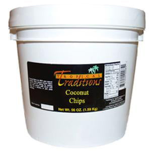 1-Gallon Pail 2 lbs - Coconut Chips