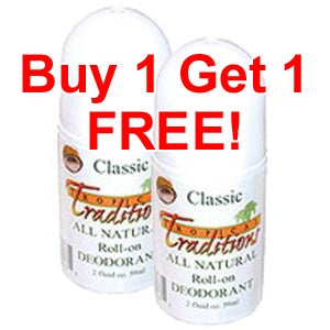 2 Deodorant Roll-ons - Classic - 2 oz. - BUY 1 GET 1 FREE!