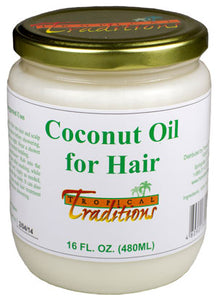 Pure Coconut Oil for Hair - 16 oz