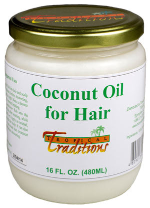 Pure Coconut Oil for Hair - 16 oz - HBC