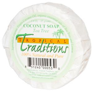 Coconut Oil Soap - Tea Tree Oil - 1 bar