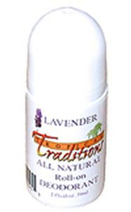 Aluminum-Free Virgin Coconut Oil Deodorant Roll-on - Lavender - 2 oz.