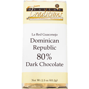80% Dark-Dominican Republic Chocolate – 2.3 oz