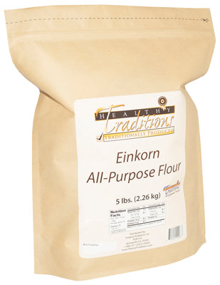 Glyphosate-tested Einkorn All-Purpose Flour – 5 lb. Bag - HBC