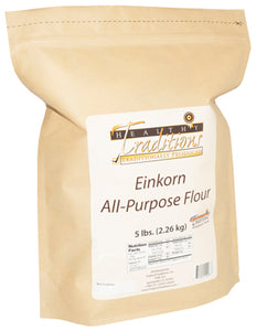 Glyphosate-tested Einkorn All-Purpose Flour – 5 lb. Bag