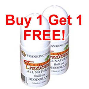 2 Deodorant Roll-ons - Frankincense - 2 oz. - BUY 1 GET 1 FREE!