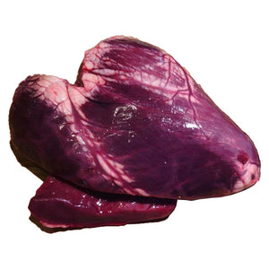 Pet Food - Grass-fed Bison Heart, approx. 1 lb. (6-heart minimum)