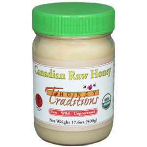 Organic Raw Honey - 17.6 oz. glass jar
