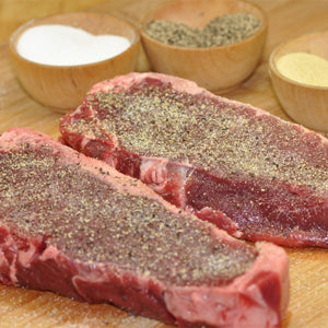 Grass-fed Beef - New York Strip Steaks - approx. 8 oz. (6-steak minimum)