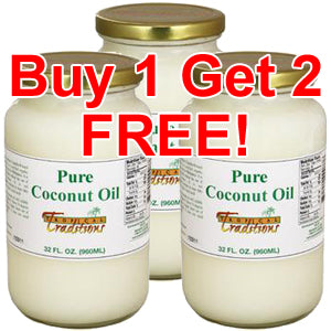 Buy 1 Get 2 FREE! Pure Coconut Oil - 1 quart