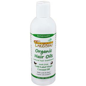 Organic Coconut Oil Hair Oils - 8 oz. - Rosemary