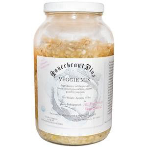 Raw Sauerkraut Plus Veggie Mix - 6 lbs.