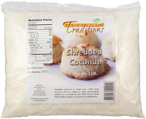 Organic Shredded Coconut - 1-lb Bag