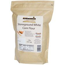 GMO-tested White Corn Flour – 2lb. Bag