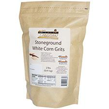 GMO-tested White Corn Grits – 2lb. Bag