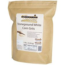 GMO-tested White Corn Grits – 5lb. Bag - HBC