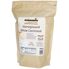 GMO-tested White Cornmeal – 2lb. Bag