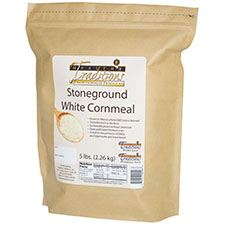 GMO-tested White Cornmeal - 5lb. Bag - HBC