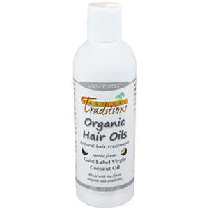 Organic Coconut Oil Hair Oils - 8 oz. - Unscented
