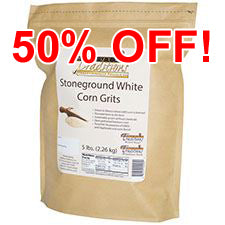 GMO-tested White Corn Grits – 5lb. Bag
