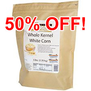 GMO-tested White Whole Kernel Corn – 5lb. Bag