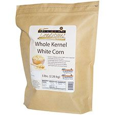 GMO-tested White Whole Kernel Corn – 5lb. Bag - HBC