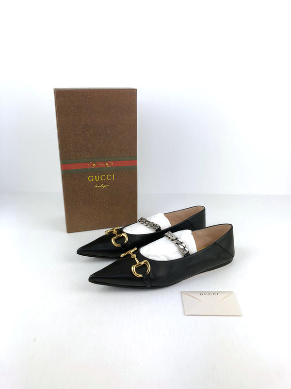 Gucci leather ballet flat with Horsebit - Str 41