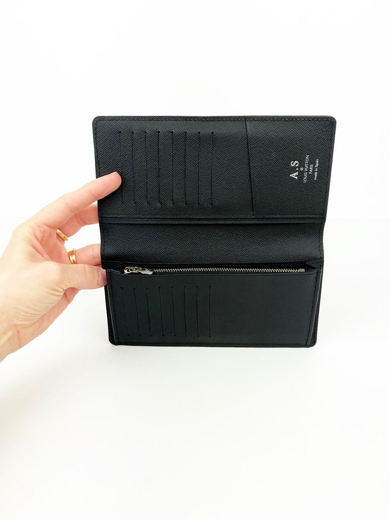 Louis Vuitton Brazza Epi Noir Wallet/ Pung
