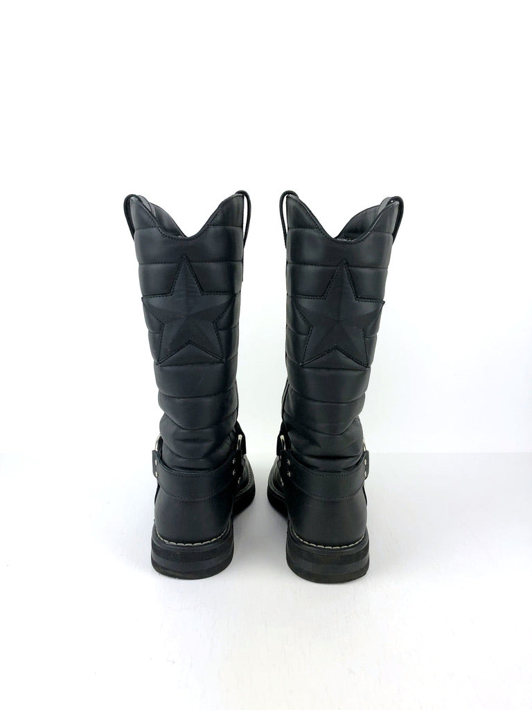 Chanel 14A Star Harness Motorcycle Biker Boots/Støvler - Str 40