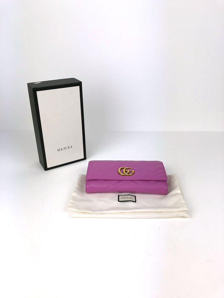 Gucci Marmont Stor Pink Wallet/ Pung