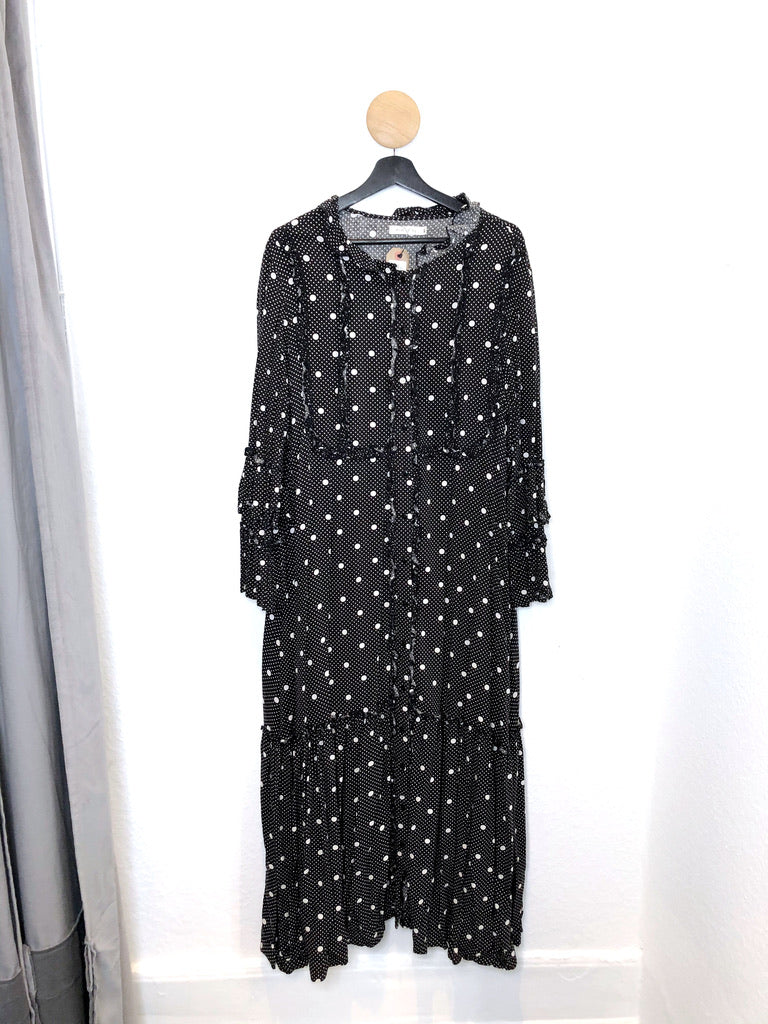 Month Of May Long Dress/Kjole Med Prikker- Str M/L