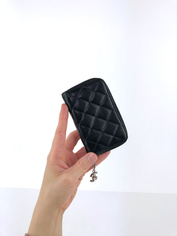 Chanel Zip Wallet/Lille pung sort