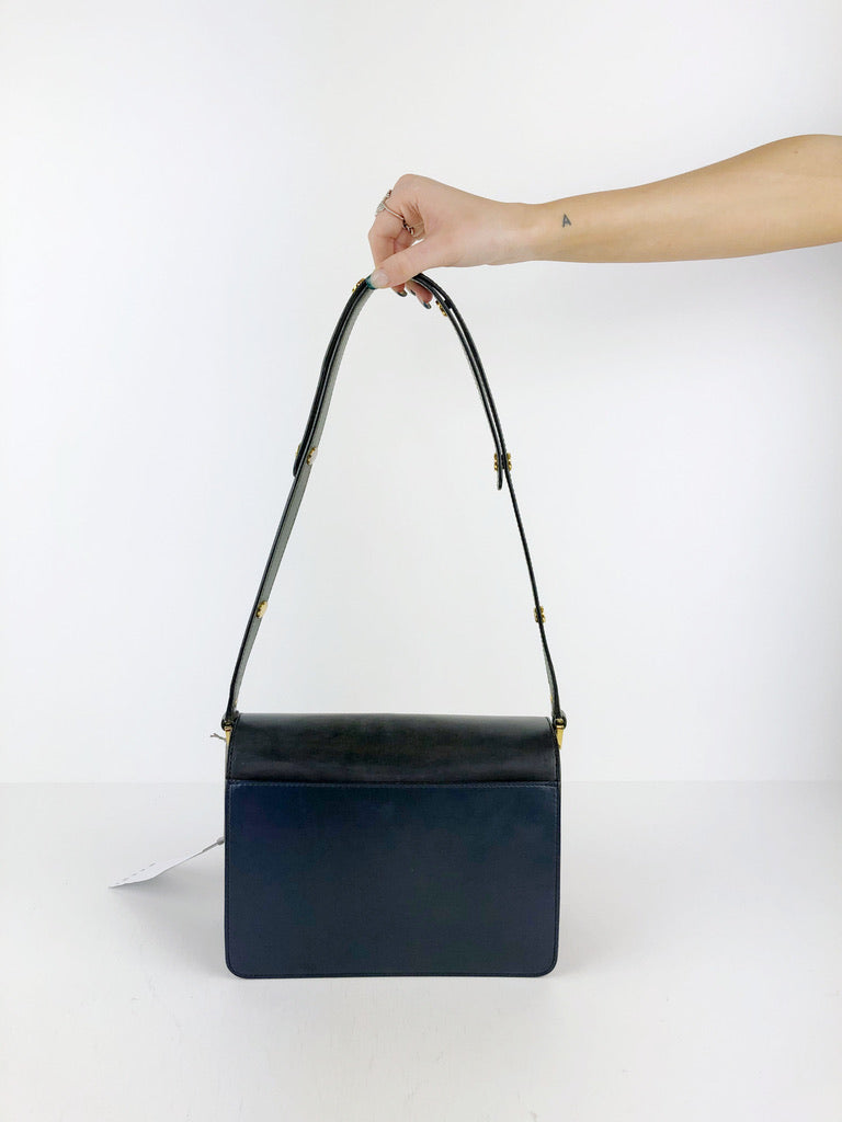 Marni Medium Trunk Bag Blå/Grøn