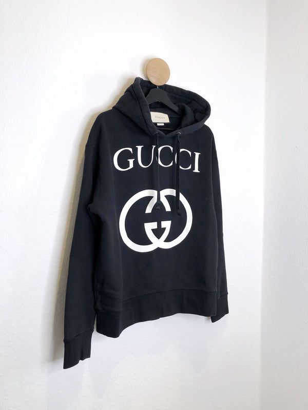 Gucci Hooded Sweatshirt- Passer ca Str M oversize
