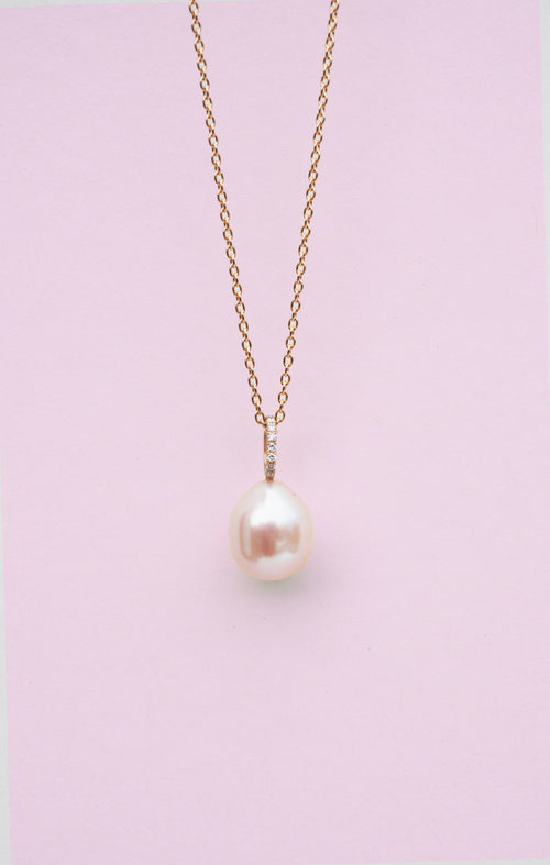 PERLA necklace, pink